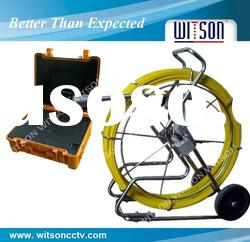 WITSON Pipe inspection camera 120m fiberglass cable with DVR control box