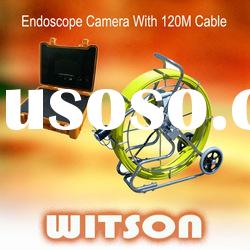 WITSON Sewer Pipe inspection camera with 60/120M Cable W3-CMP3288