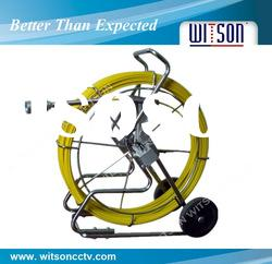 WITSON sewer pipe inspection camera 120m fiberglass cable with DVR control box