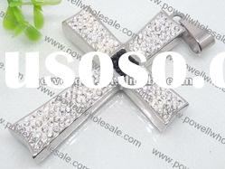 Wholesale Pendant, charm Rhinestone stainless steel cross Pendant
