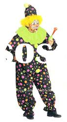 carnival clown party dress/funny clown costume/Halloween fancy dress(BSMC-0146)