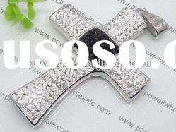 cheapest Rhinestone Pendant, stainless steel cross Pendant Wholesale