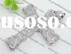 cheapest polished Pendant, stainless steel cross Pendant Wholesale
