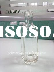 clear 100ml square shape olive oil bottle with alum cap
