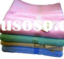 colorful terry cotton bath towel with border