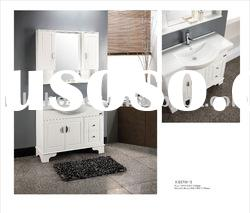 floor standing pvc/mdf bathroom cabinet with modern style