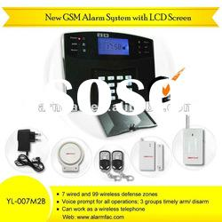 gsm home security alarm system/intruder alarm /home security alarm system