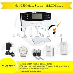 gsm wireless home security alarm system/intruder alarm /home security alarm system