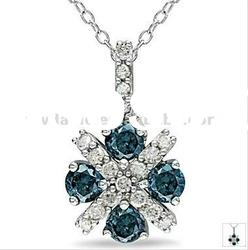 hot sale silver plated unique alloy pendant necklace with stone 120916