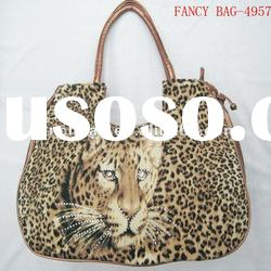 leopard fashion lady tote bag