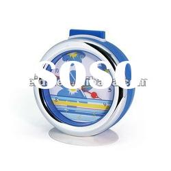 plastic table clock with music alarm