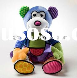 plush monkey toy with various color
