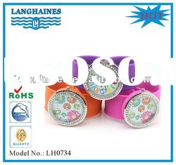 promotion gift new design watch silicone band slap on slap watch LHS0001