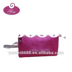 red pvc hanging cosmetic bag