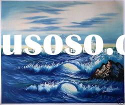 sea landscape ocean waves oil painting SJC-001