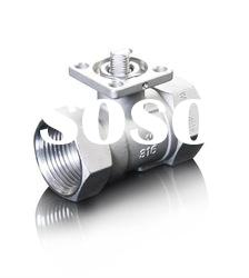 stainless steel 2PC ball valve for actuator ISO5211