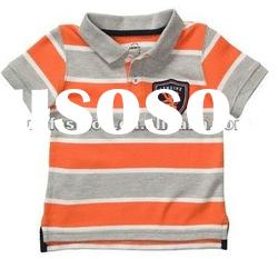 yarn dyed wide stripe baby polo t-shirt