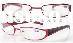 2012 New Arrival Stainless Steel Frame,Leather Temple Reading Glasses(RM354089)
