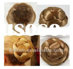 2012hot selling wholesale fashion synthetic hair bun hair chignon