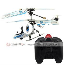 3 Channel IR Metal Remote Control Helicopter White + Blue