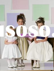 Ball Gown Sccop Taffeta Flower Girl Dresses