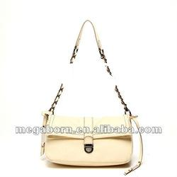 Beautiful fashion pink PU or Genuine leather shoulder bag and handbag
