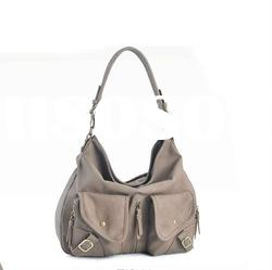 Beautiful light novel fashion lightgray high-quality PU handbag and shoulder bag