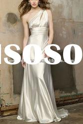 Crystal one strap backless wedding dresses NSW3192