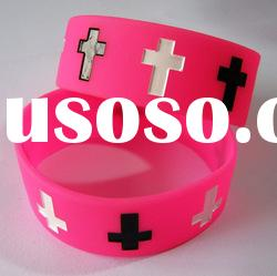 Debossed Silicone Bracelet/ Debossed silicone wristband