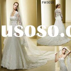 FW3018 Strapless Wedding Dress With Lace Bolero Jacket