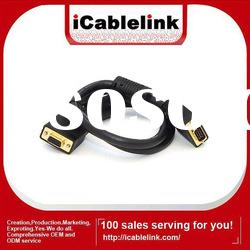 Gold-plated VGA male to male cable 5mts