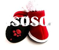 High quality fashion santa sport dog shoes,pet cat shoes