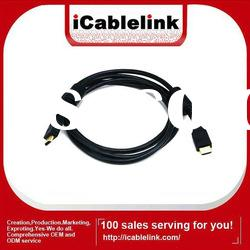 High speed male to male HDMI cable 1080P for HDTV,LCD