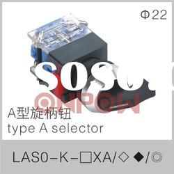 LAS0-K-11XA type A selector(selector push button switch,selector switch)
