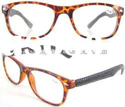 New Design Plastic Injection Frame,leather temple Fashion Reading Glasses(RP9655B)