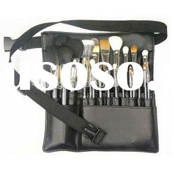OEM Private Label Artist Gold Color Makeup brush set 23pcs with makeup belt bag
