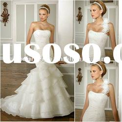 OMYD024 High Quality And Hot Sale Organza Mermaid Wedding Dress 2012