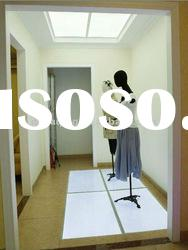 Pure white lighting floor for shop window,department store