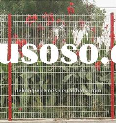 Red Coated Welded Wire Mesh Fence(Peach Post)