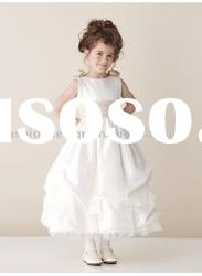 VF101 Beautiful sleeveless taffeta flower girl dresses