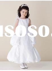 VF118 Beautiful sleeveless taffeta flower girl dresses