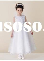VF120 Beautiful sleeveless organza flower girl dress