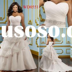 WD0551 Pink Organza Ball Gown Wedding Dress Plus Size 2012