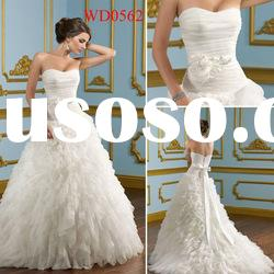 WD0562 White Tulle Ball Gown Strapless Old Fashioned Wedding Dress
