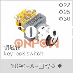 Y090-A-11Y key lock switch,key selector switch,key switch