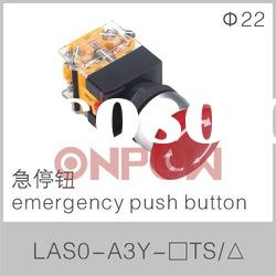 emergency push button LAS0-A3(emergency push button switch,emergency stop push button switch)