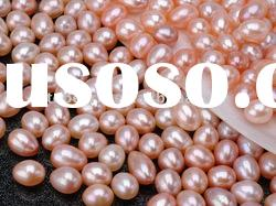 natural loose pearl pink tear drop freshwater pearl beads LFP07