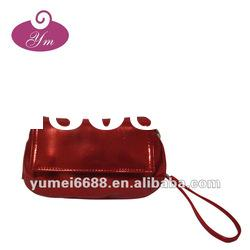 red pu hanging cosmetic bag