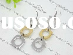 two tone New Fashion Stainless steel Earrings