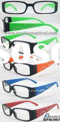 2012 New Design Plastic Reading Glasses with Soft Touchinge(RP461003)